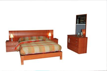 Dormitorio oferta 251cm con cómoda 100cm.