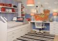 Dormitorio juvenil chapa de haya, detalles en laca.